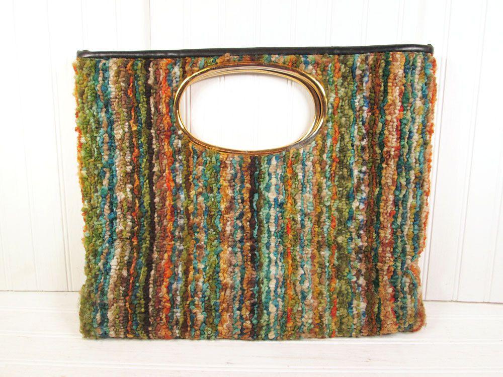 Vintage Jr Carpet Bag Purse Handbag Carpetbag Retro Made in USA Multi Color Boho | eBay