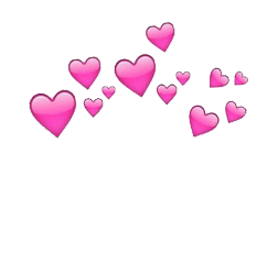Rosado Corazones Mariposa Emoji Corona Transparentes Tumblr
