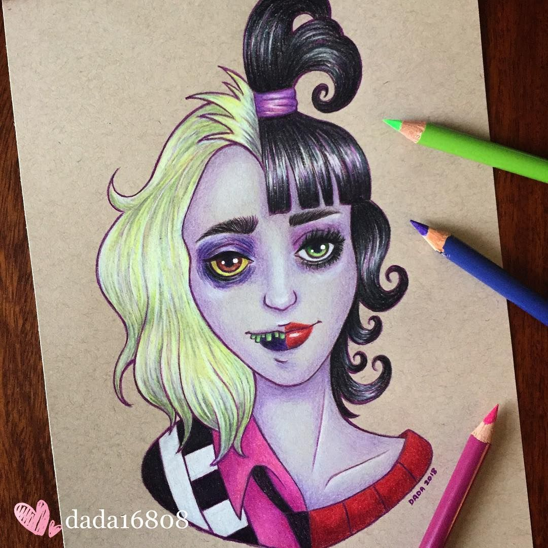 Beetlejuice And Lydia Draw Drawing Sketch Doodle