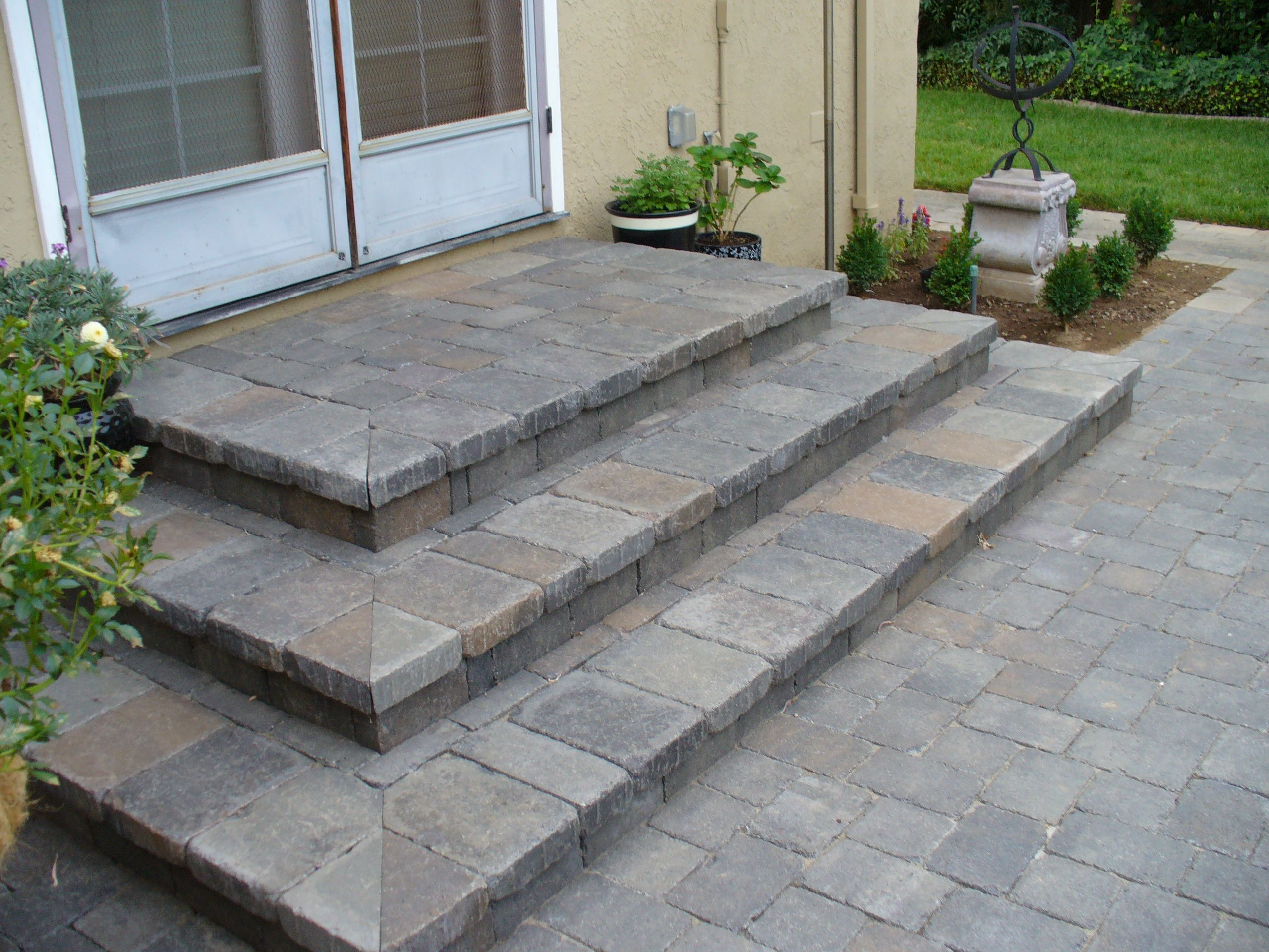 How to create a paver patio with steps google search for Steps to start building a house