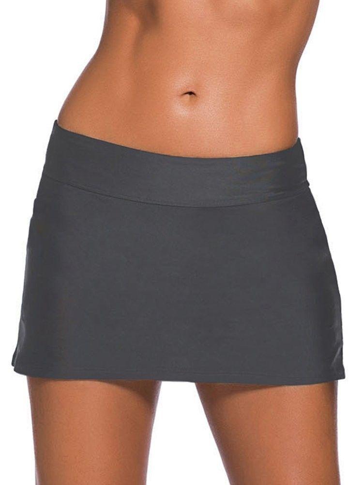 Women's Active Athletic Skort Skirt Pockets Running Tennis Golf Workout Cheer Dance 0327 - Grey - CO...