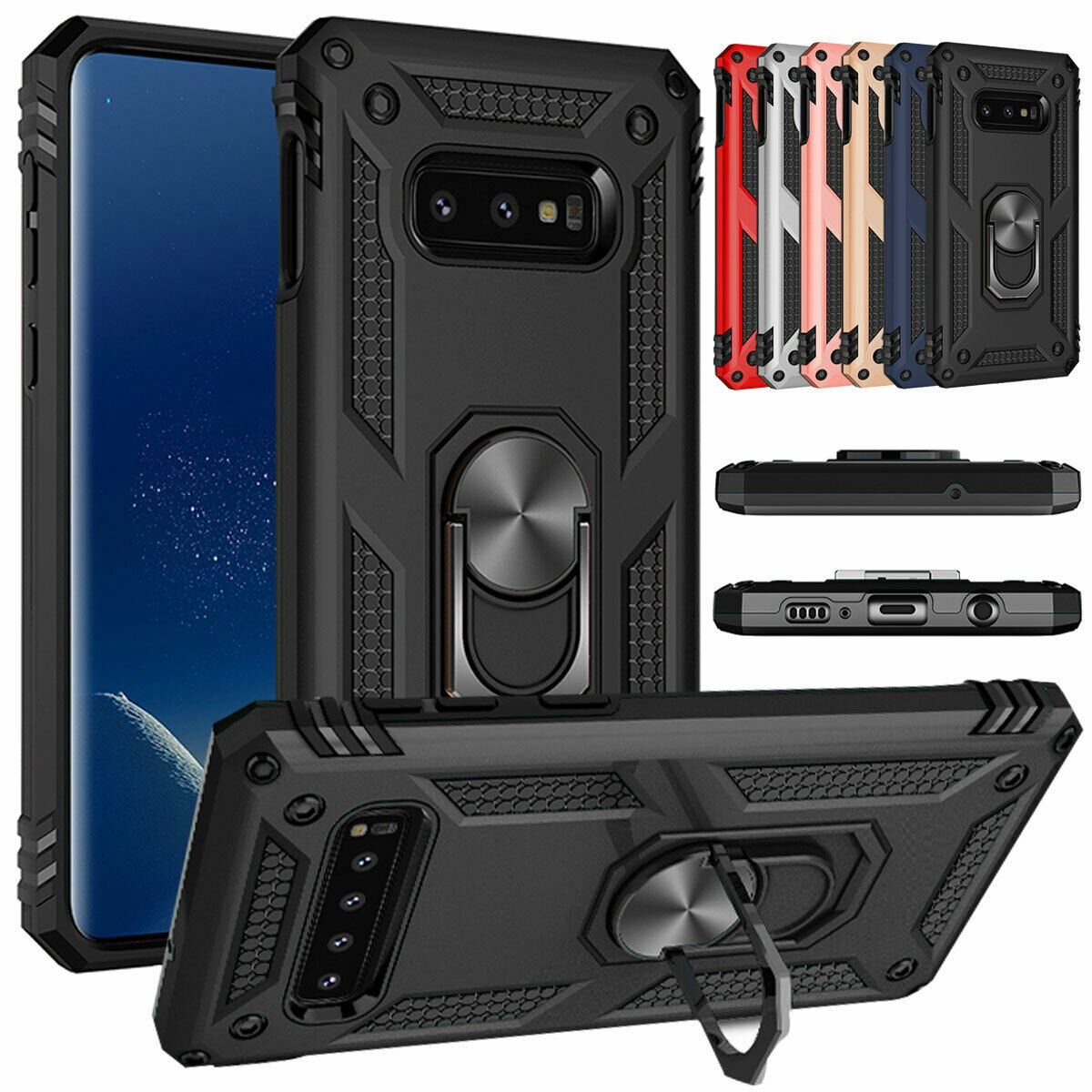 For Samsung Galaxy S8 S9 Note 9 8 Magnetic Phone Case With Ring Stand Cover Ideas Of Ring Holder Ringholder In 2020 Cell Phone Ring Ring Stand Phone