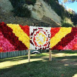 """begonia festival mural. #SantaCruz #Capitola  Conoce más en nuestro #artículo: """" CALIFORNDIVERSION: Verano En Santa Cruz"""". #EstadosUnidos #California #Blog #TravelBlog #BlogDeViajes #BegoniaFestival"""
