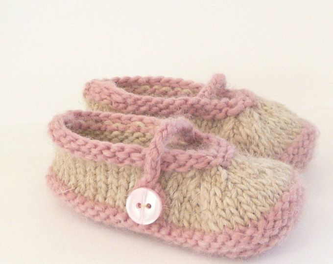 ce293d907 Knitting Pattern Baby Shoes - Simple Seamless Mary Janes (Sizes for ...