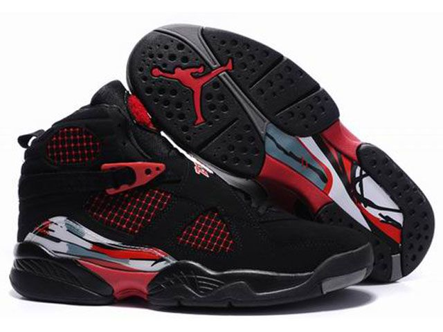 womens air jordan retro 8 red black