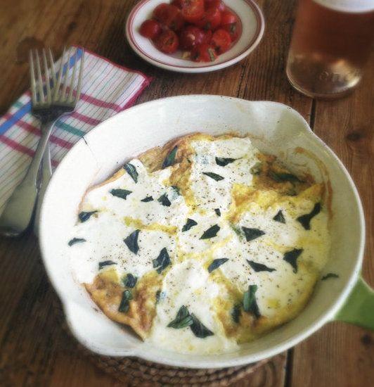 Fresh Mozzarella & Basil Frittata