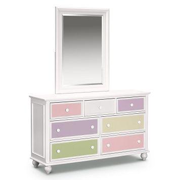 Colorworks White Kids Furniture Dresser Mirror Value City