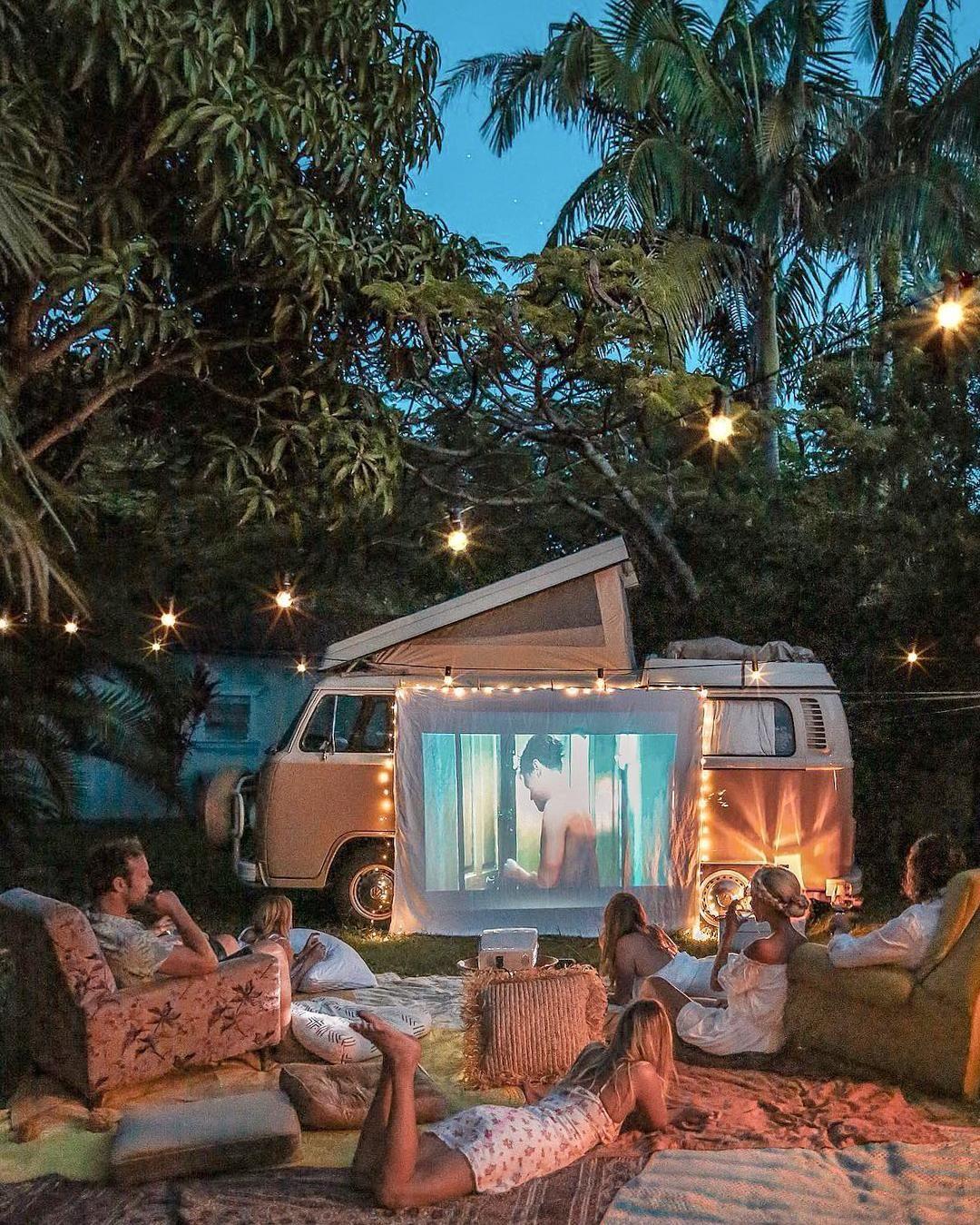 26 Outdoor Cinemas To Turn Your Movie Night Into An Adventure Backyard Movie Outdoor Cinema Van Life Diy