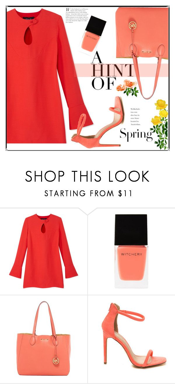 """""""hint of spring"""" by paperdollsq ❤ liked on Polyvore featuring Derek Lam, Witchery, MICHAEL Michael Kors and H&M"""