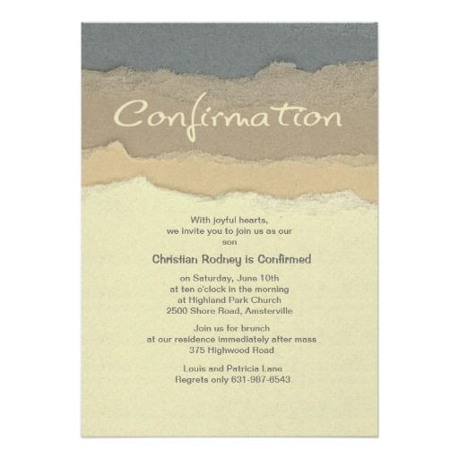 cutting edge confirmation invitation confirmation pinterest