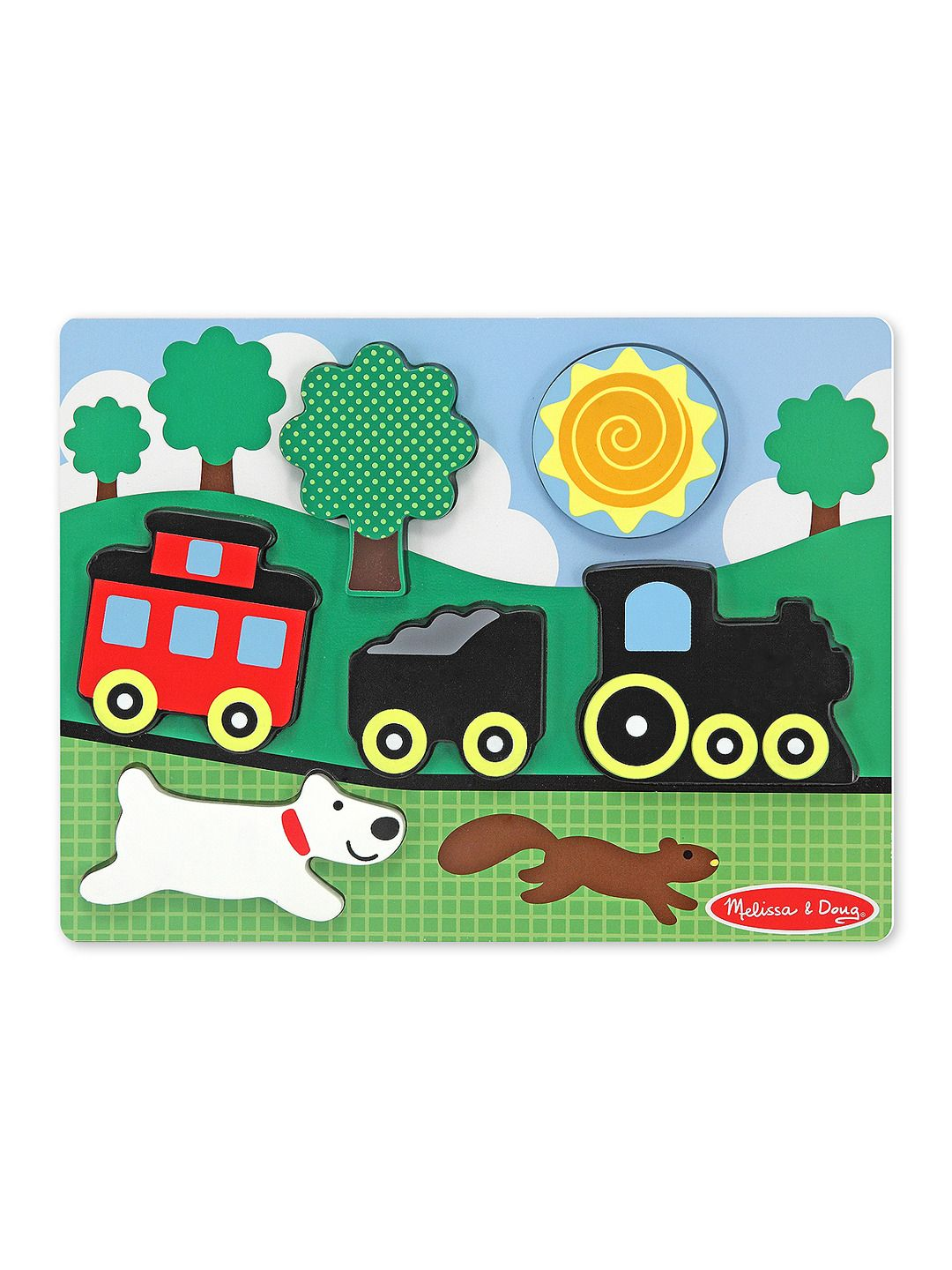 Red Caboose Chunky Scene Puzzle  Pump #SuitcaseKids