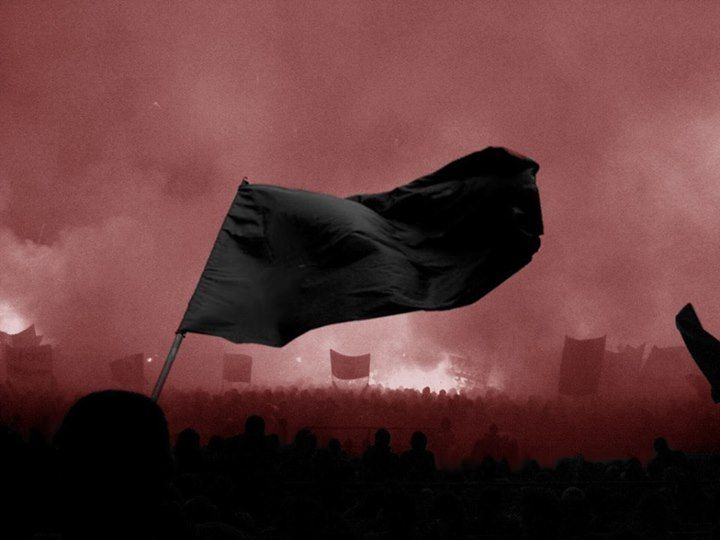 November 27 1884 Us The Black Flag Traditional Symbol Of Anarchism Appears In First Known Display By Anarchists In Ameri Anarchism Anarchist Revolution