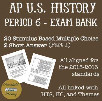 APUSH Period 6 Stimulus Based Multiple Choice Short Answer