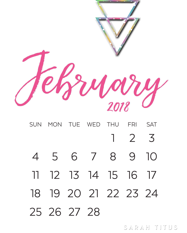 Modern Monthly Calendars Printables