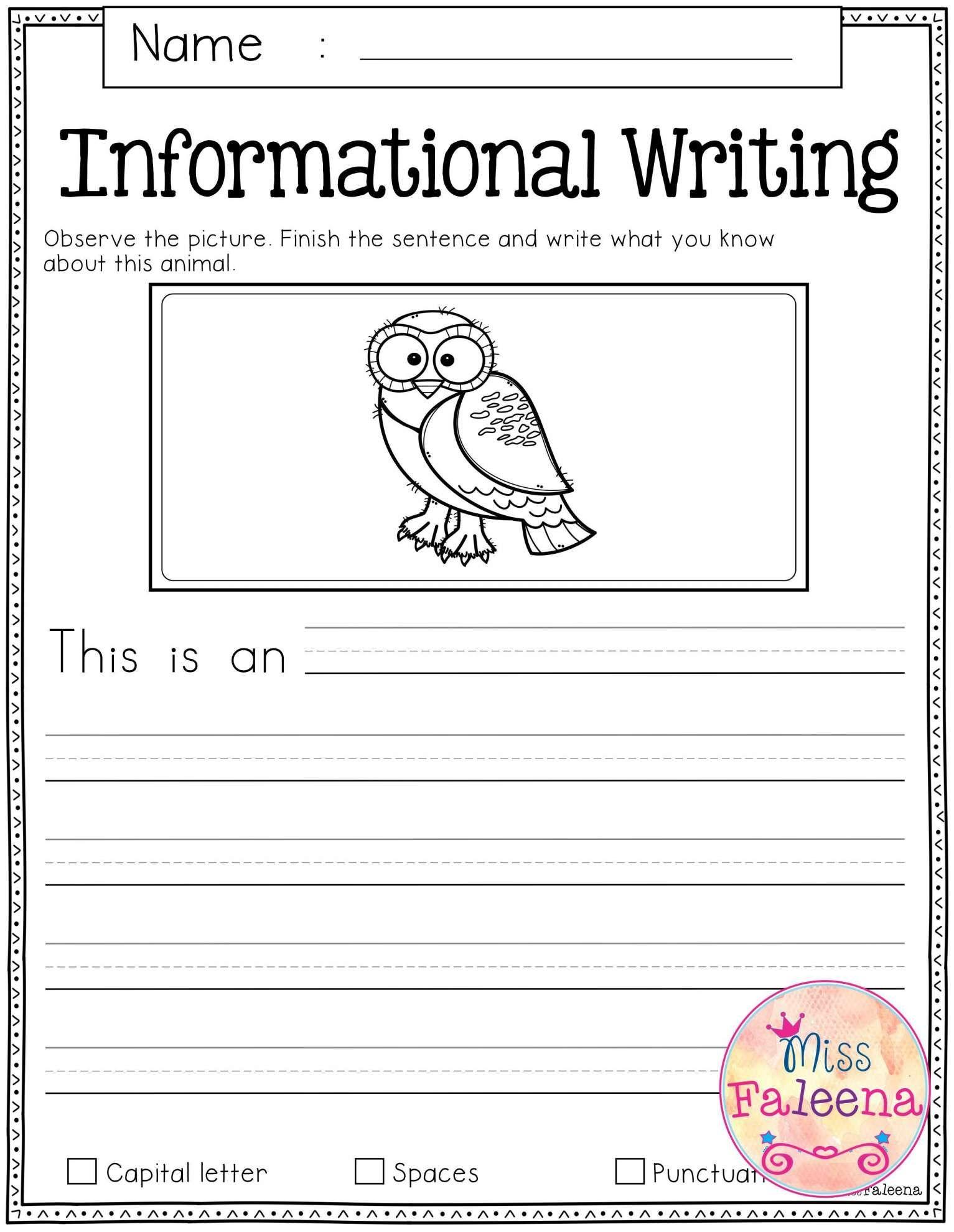 10 Writing Prompt Worksheet For Kindergarten