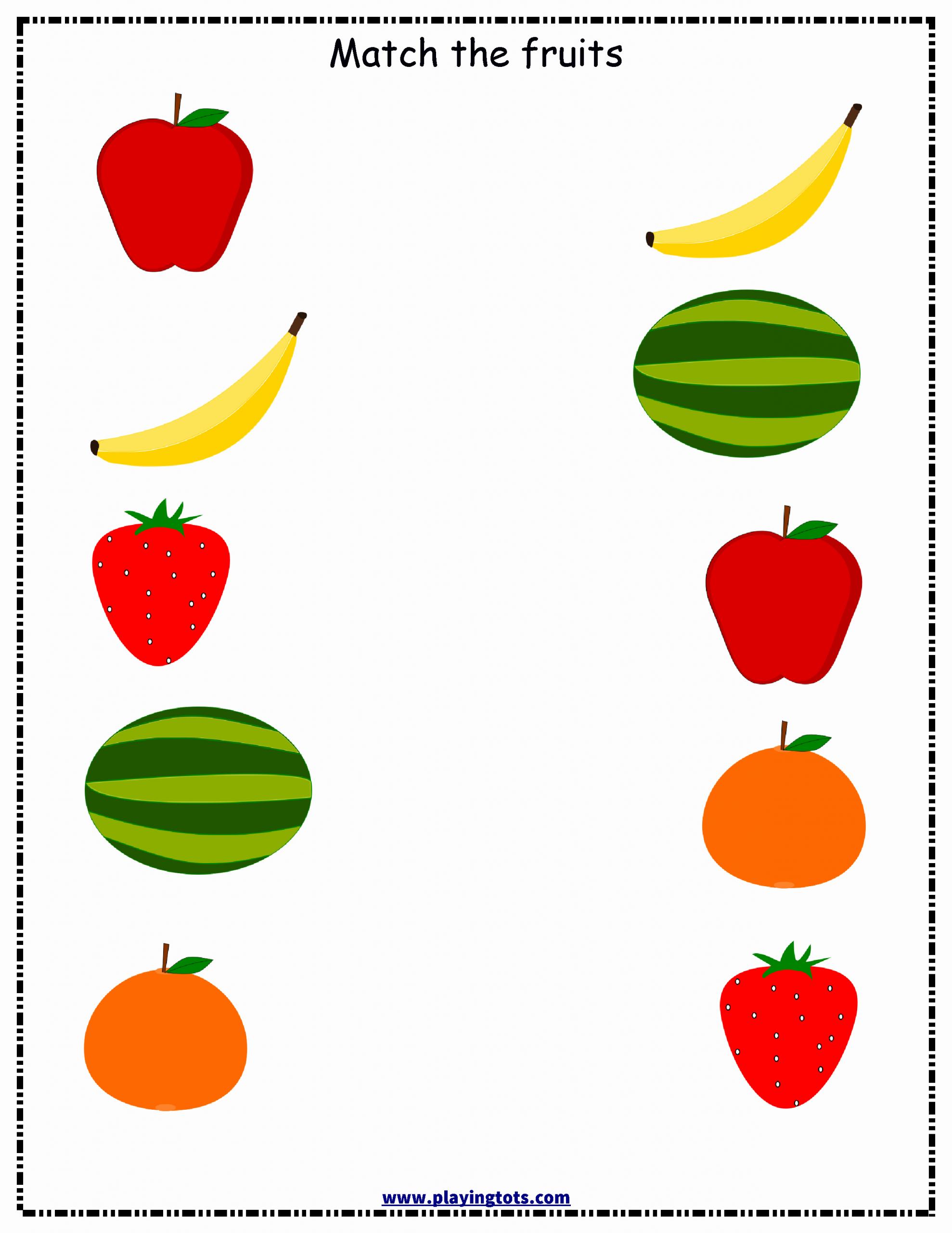 Fruit Kindergarten Worksheet Busy Teacher In