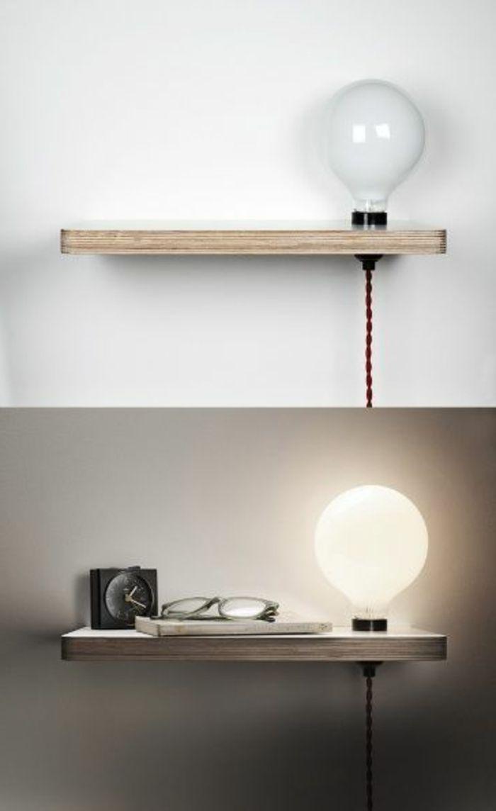 Installer une table de nuit suspendue pr s de son lit les avantages archz - Lampe de table de nuit ...