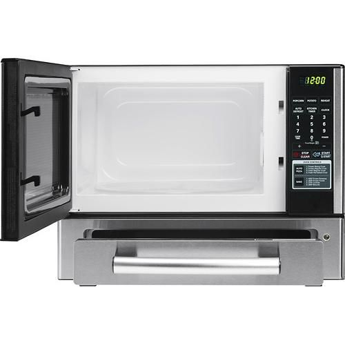 Microwave And Toaster In 1 ~ Lg cu ft mid size microwave stainless steel