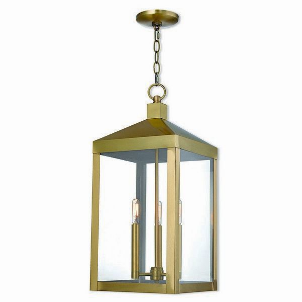 Livex lighting 20587 01 nyack 3 light antique brass outdoor pendant livex lighting 20587 01 nyack 3 light antique brass outdoor pendant lantern antique brass gold solid brass mozeypictures Image collections