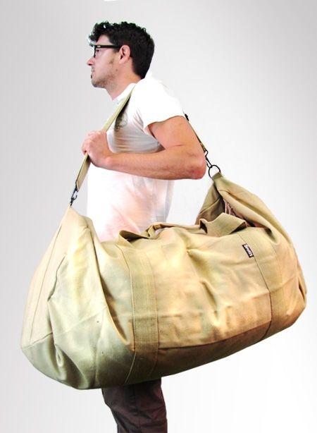 f791e94149d2 Giant Canvas Duffle Bag in Khaki  9.99