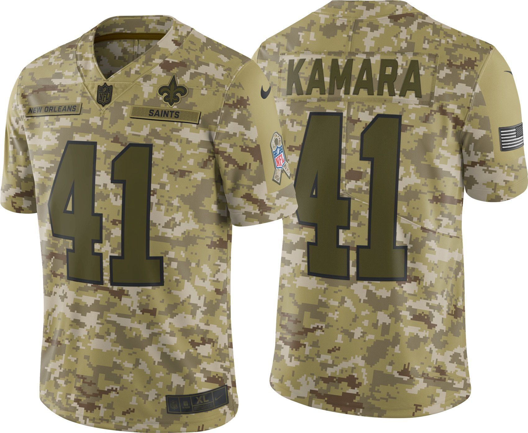 09e3c7550 Nike Men s Salute to Service New Orleans Alvin Kamara  41 Limited Camouflage  Jersey