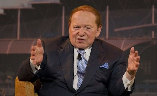 CEO and Chairman of Las Vegas Sands Sheldon Adelson speaks during a news conference at the Marina Bay Sands convention centre in Singapore June 23, 2010.