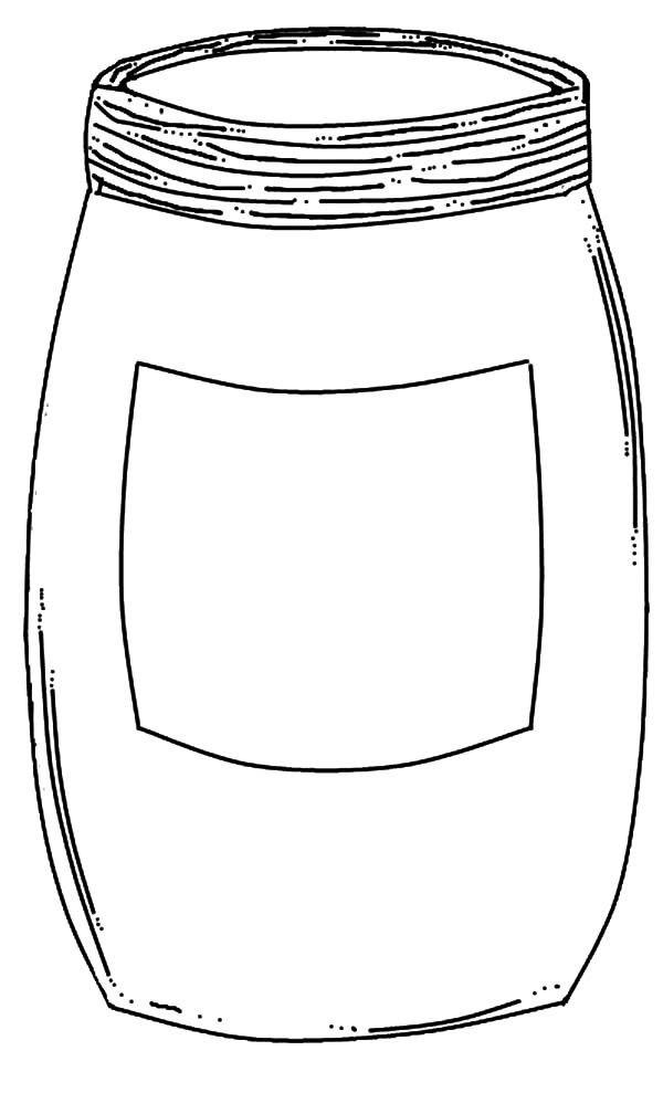 Empty Jar Coloring Pages Bulk Color Ball Jar Labels Templates Printable Free Mason Jars