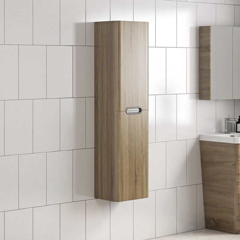 Mode Sherwood Oak Wall Hung Cabinet 1400 X 350mm Modern Bathroom