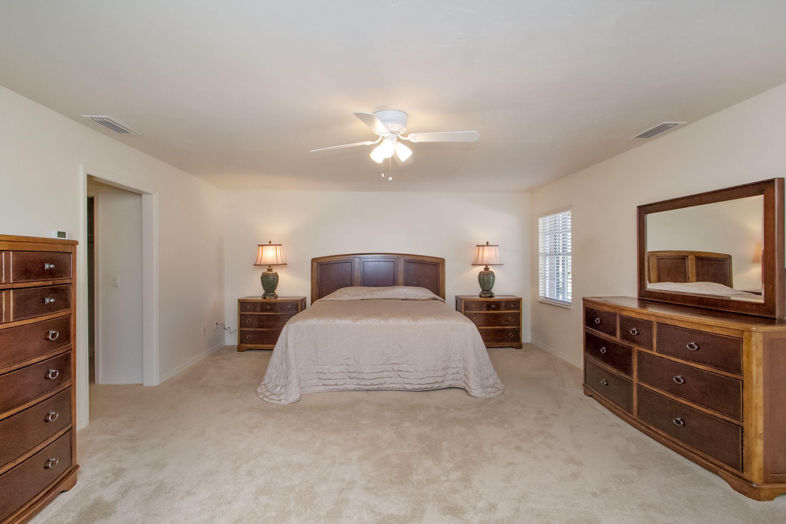 Master bedroom huge  Huge master bedroom easily accommodates a king bed and oversized