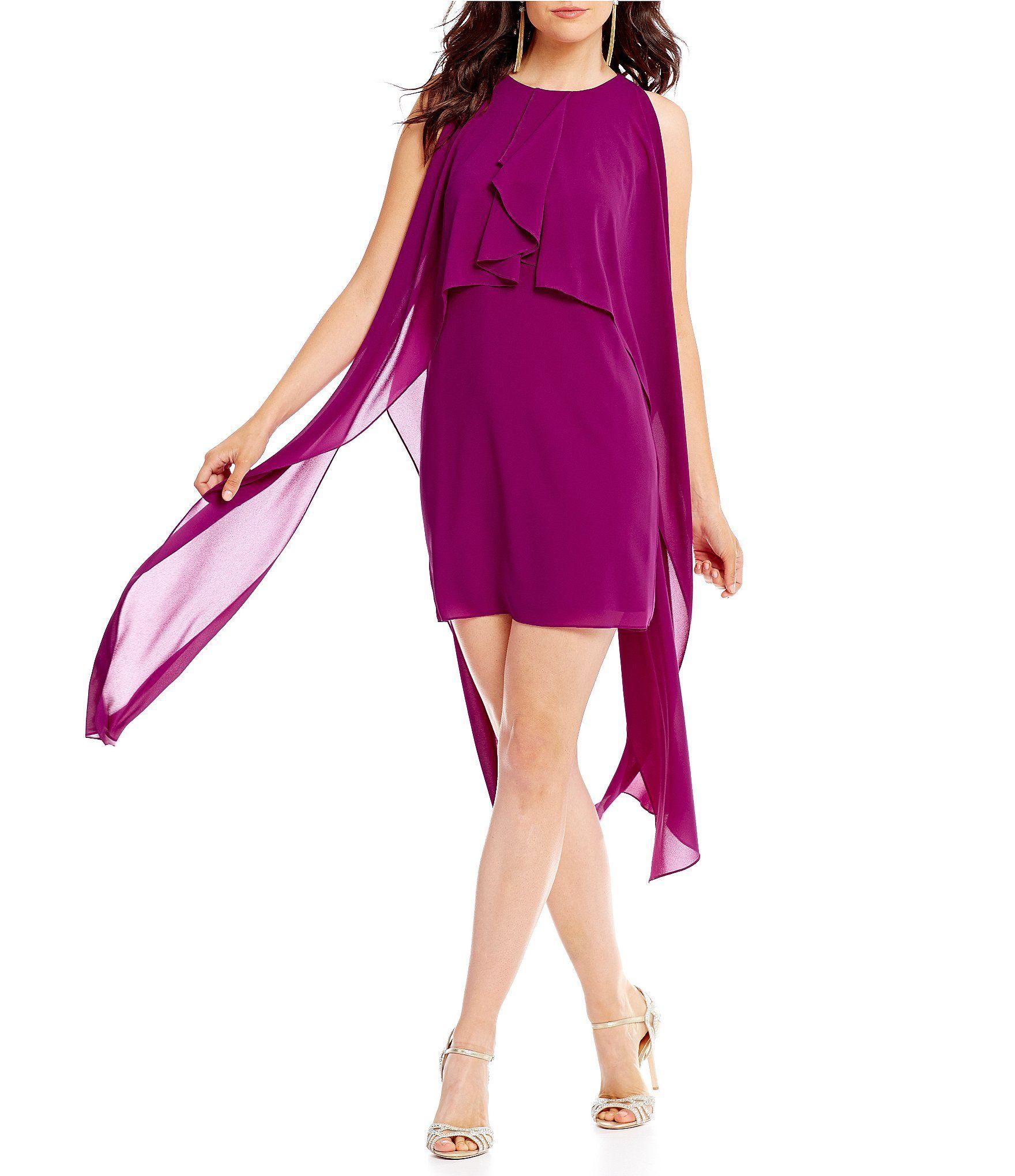 Belle Badgley Mischka Ruffled Dress #Dillards   Dresses   Pinterest ...