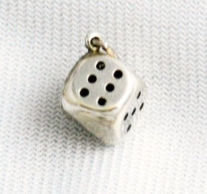 Sterling Silver Dice Charm