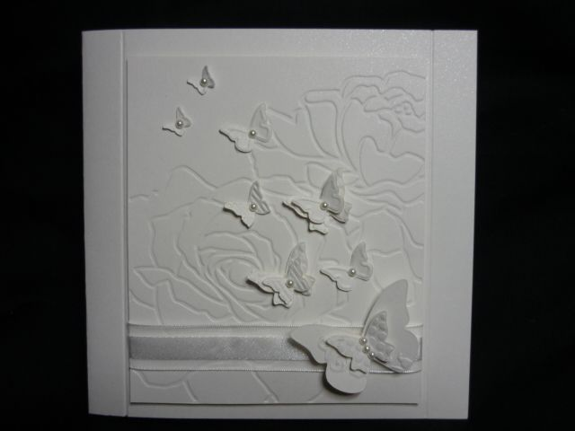 using the reverse side of the embossing folder