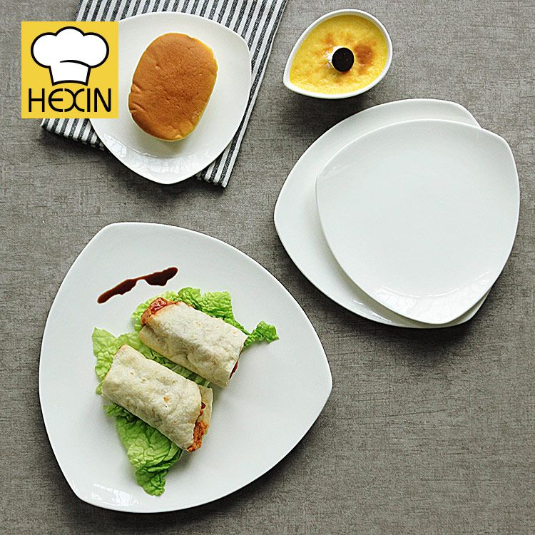 Triangle Dinner Plate | Commercial Dinnerware & Triangle Dinner Plate | Commercial Dinnerware | Appetizer Plates ...