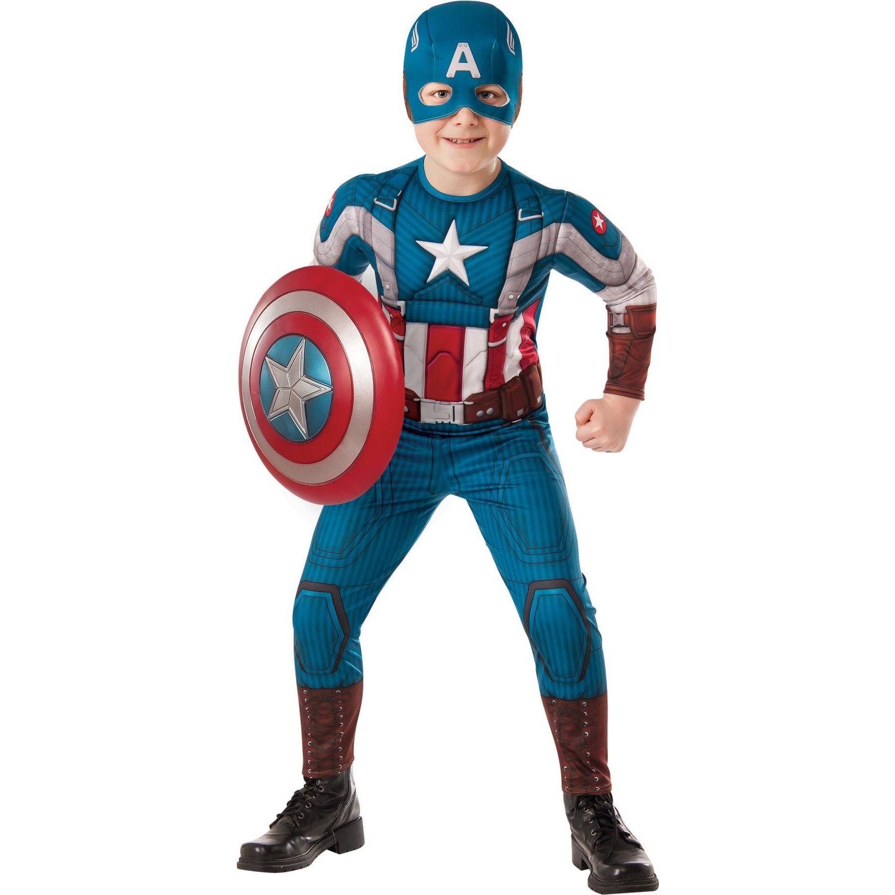Attractive Halloween Costumes · Captain America Child Large