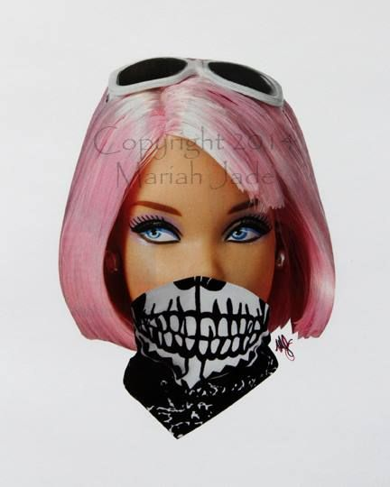 #Thug #Punk #Pink #Barbie #Collage #CutAndPaste