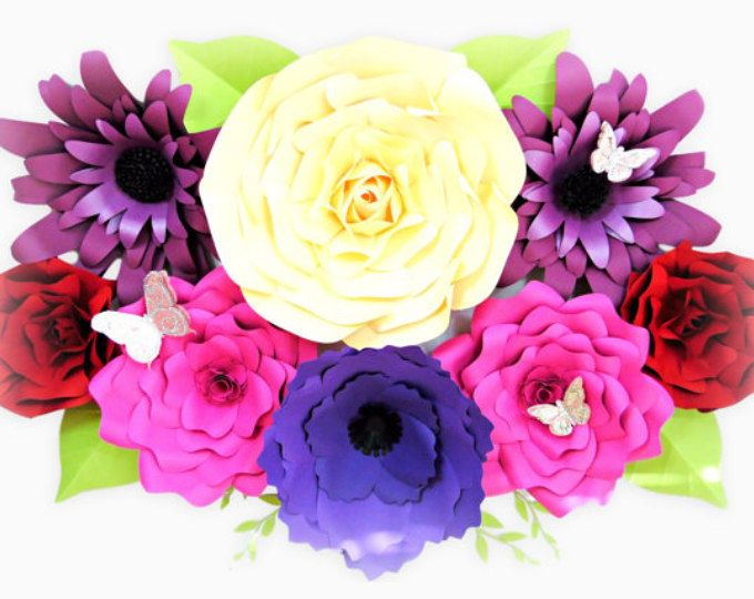 DIY Giant Paper Flower Printable Templates- Flower Template Outlines ...