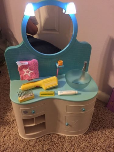 American Doll Bathroom Vanity Sink Set With