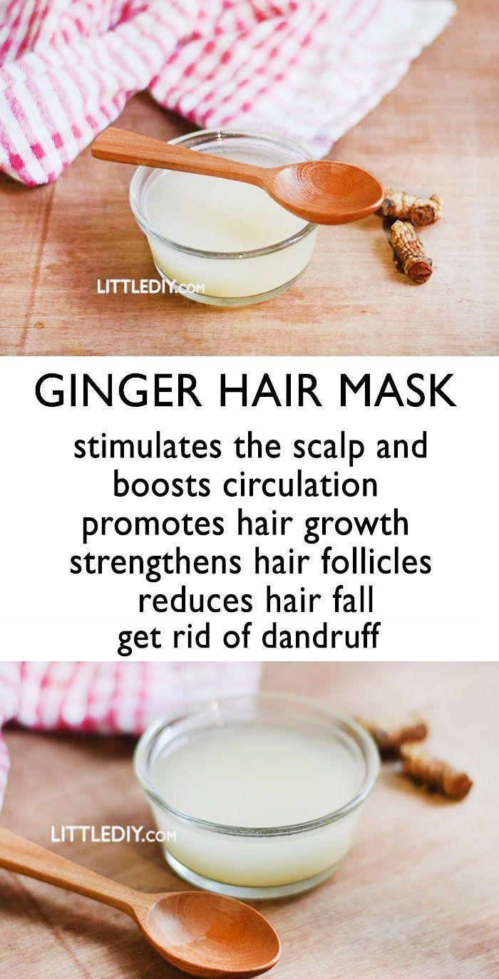 Ginger hair mask   Hair mask, Hair growth