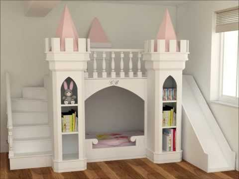 How To Build A Princess Castle Playhouse Youtube Castle Bed