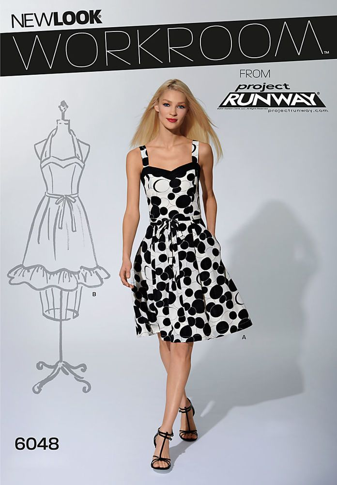 workroom from project runway, misses belted dress in two lengths ...
