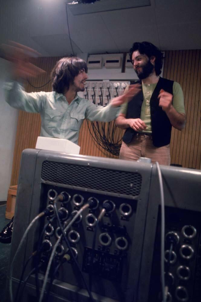 George and Paul McCartney Apple Studio Dance.