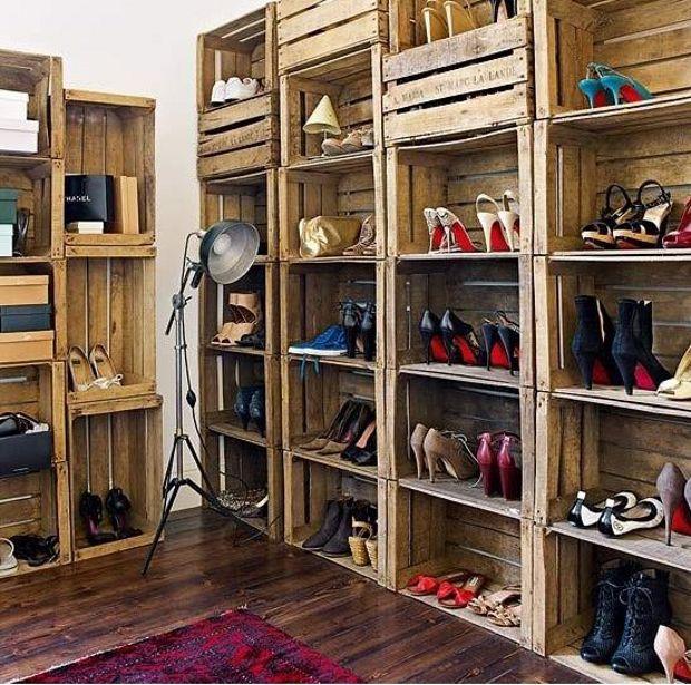 Arredamento creativo, come sistemare casa riciclando - scarpiera ...