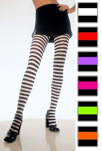 4b49a66a77e27 STRIPED TIGHTS | Lola OOMM | Striped tights, Red black dress, Tights