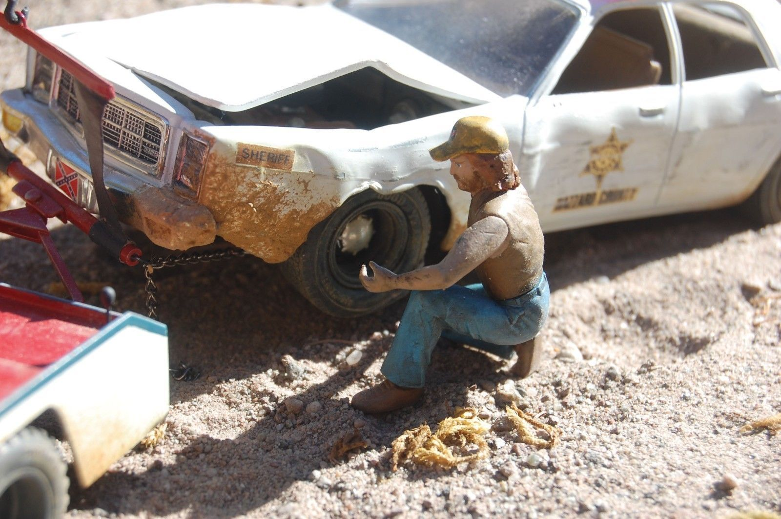 Built dukes of hazzard rosco\'s police car weathered wrecked ...