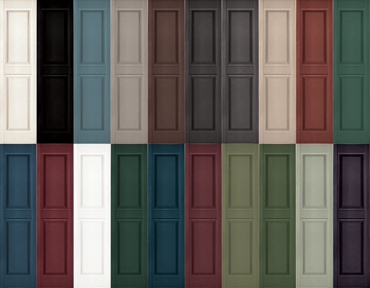 New Pair Raised Panel Exterior Vinyl Shutters 31 39 Exterior Vinyl Shutters Vinyl Shutters