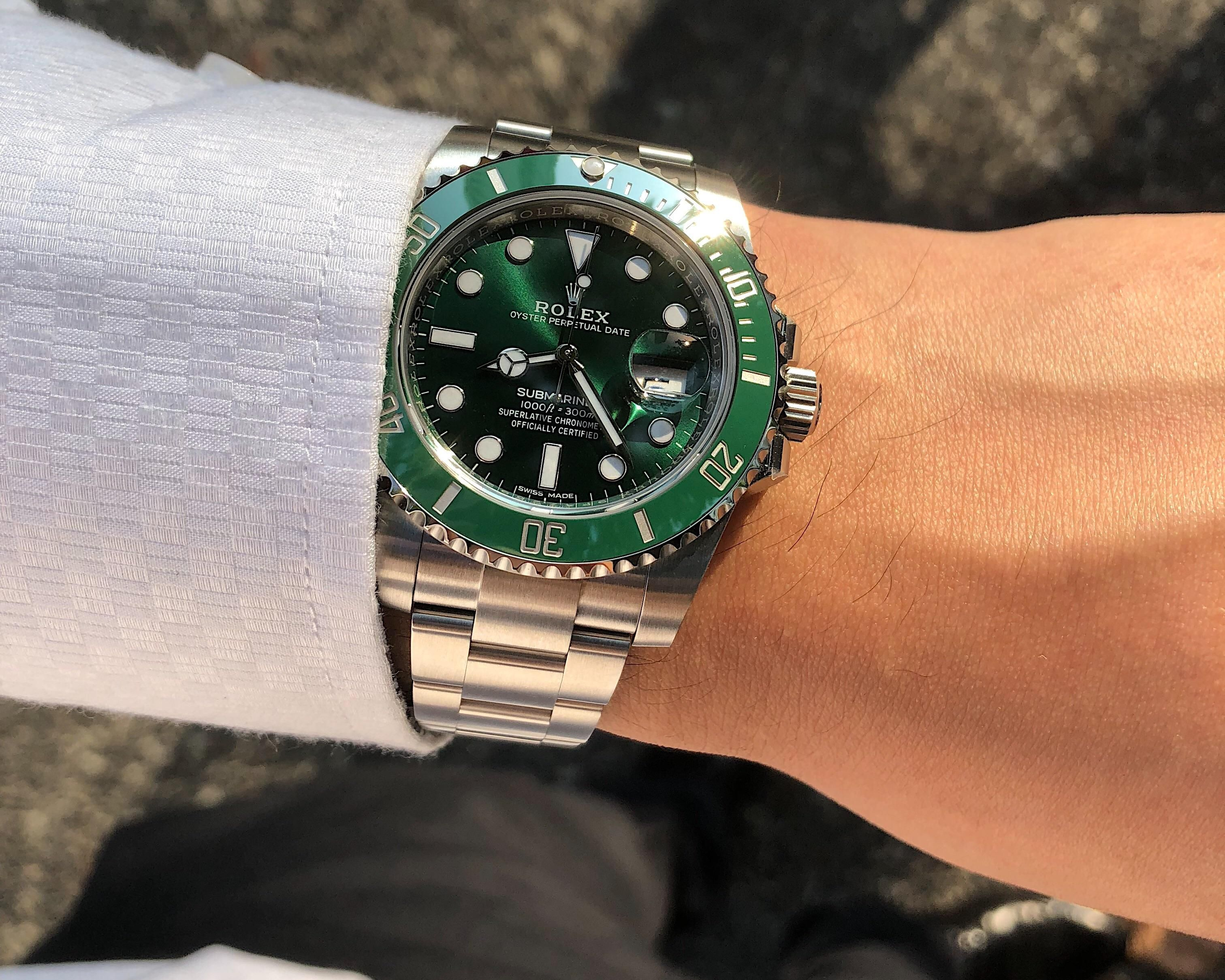 Rolex Submariner Date Hulk] never did believe the hype until