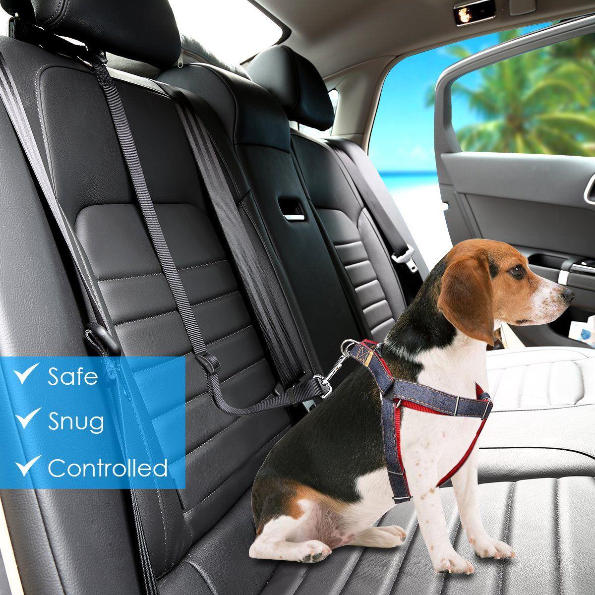 Urpoer Dog Seat Belt 2 Pack Safety Dog Car Seat Belt Strap Car