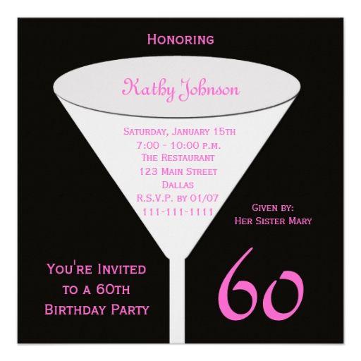 60th birthday party invitation 60th toast 60th birthday