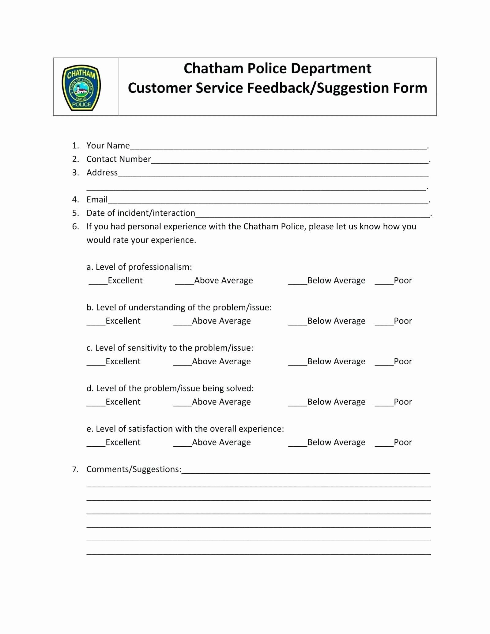 Customer Feedback Form Template Word Luxury Template Customer Service Feedback Template Resume Template Word Data Visualization Tools Words Customer feedback form template word
