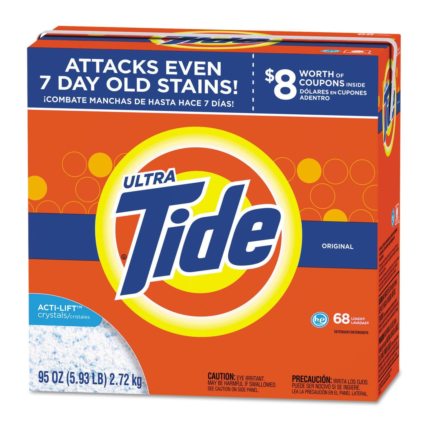 Tide He Laundry Detergent Original Scent Powder 95 Ounce Box 3